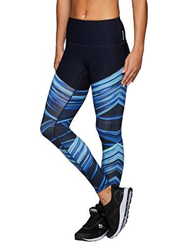RBX Active Womens Printed Yoga Leggings Blue - Swim Leggings Uk