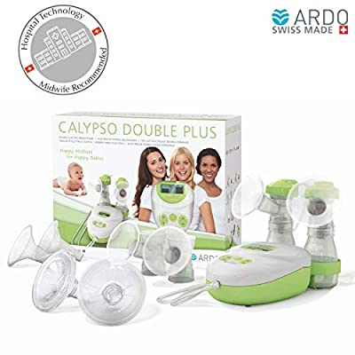 Image of Baby Ardo - Calypso Double Plus Breast Pump, ultra-silent hospital-technology pump, plug-in adapter and battery operated, Swiss Made