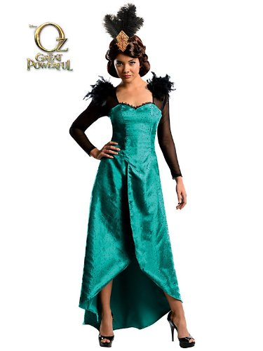 Oz The Great and Powerful Evanora Dress and Headpiece Adult Costume (Small, Emerald)]()