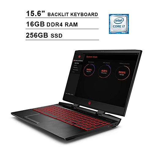2020 HP Omen 15.6 Inch 144Hz FHD 1080P Gaming Laptop, Intel 6-Core...