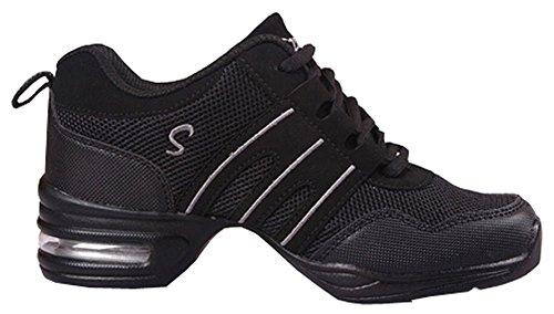 women shoes Hip Shoes gray Jazz sneakers for Dance Hop black woman light d5qtXx