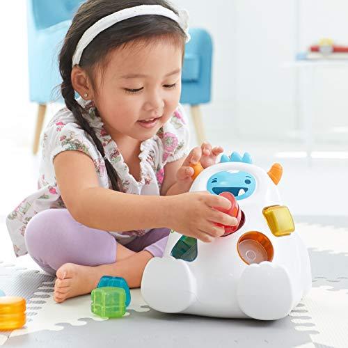 41T LUuWBNL - Skip Hop Yeti Shape Sorter Explore & More 3-Stage Spinning & Sorting Developmental Learning Toddler Toy