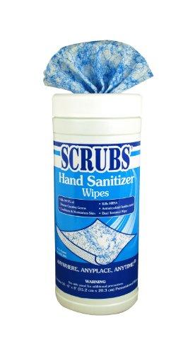 Sanitizer Hand Scrubs (ITW Dymon DYM90956 Scrubs Hand Sanitizer Cloth Wipe, 8
