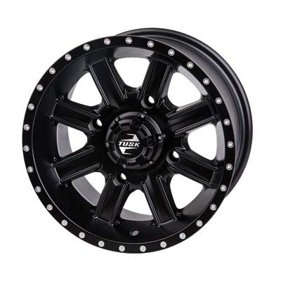 4/110 Tusk Cascade Wheel 12x7-5.0 + 2.0 Offset - Matte Black - Includes Lug Nuts - Fits YAMAHA WOLVERINE 4x4 R-Spec X2 ()