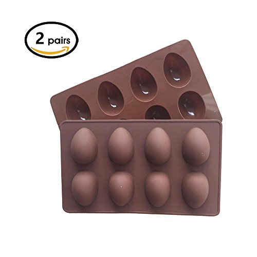 Teanfa Easter Eggs molds, vegan eggs siliconemold pan, 2 Pac