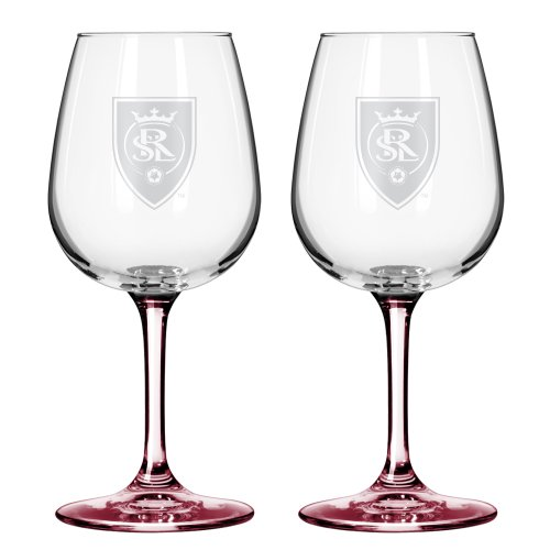 MLS Real Salt Lake Wine Glasses, 12-ounce, 2-Pack