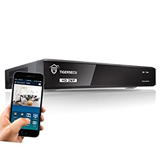 TIGERSECU Super HD 1080P H.265+ 8-Channel Hybrid 5-in-1 DVR NVR Security Video Recorder, Supports Analog and ONVIF 2.0+ IP Cameras (Cameras and Hard Drive Not Included)