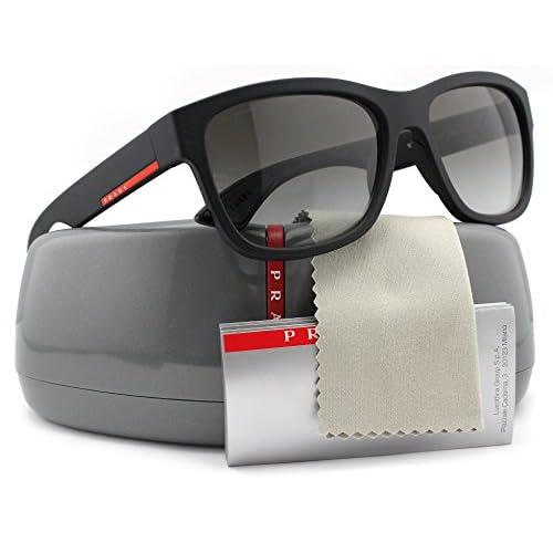 9aee52caef81 durable service Prada Linea Rossa SPS03Q Men Sunglasses Black Rubber w Grey  Gradient (DG0