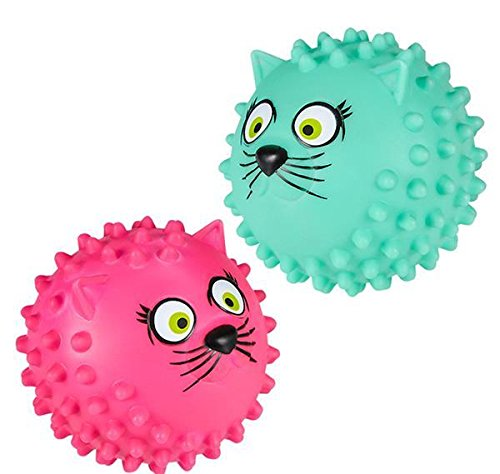 5'' CAT KNOBBY BALL, Case of 72 by DollarItemDirect