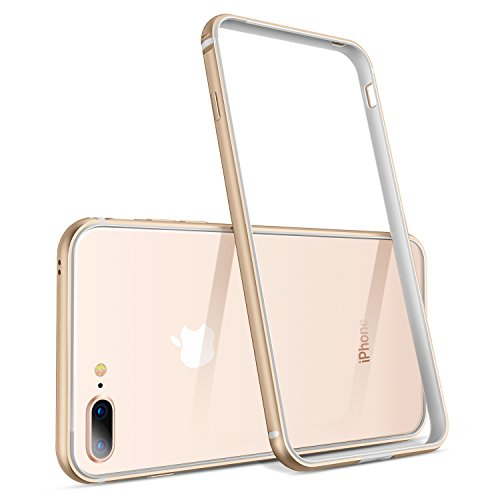 Aluminum Metal Bumper Case for Apple iPhone 7 (Gold) - 3