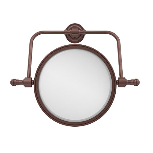 - Allied Brass RDM-4/5X-CA Retro Dot Collection Wall Mounted Swivel Make-Up Mirror 8 Inch Diameter with 5X Magnification Antique Copper