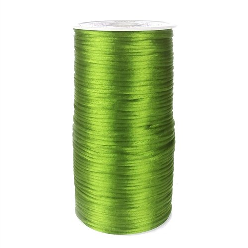 Homeford Firefly Imports Satin Rattail Cord Chinese Knot, 2mm, 200 Yards, Apple Green
