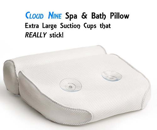 luxurious bath pillow plus konjac bath sponge extra large
