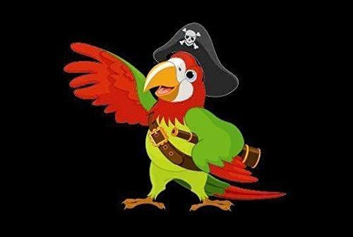 U24 Fahne Flagge Piraten Papagei Bootsflagge Premiumqualität 20 x 30 cm