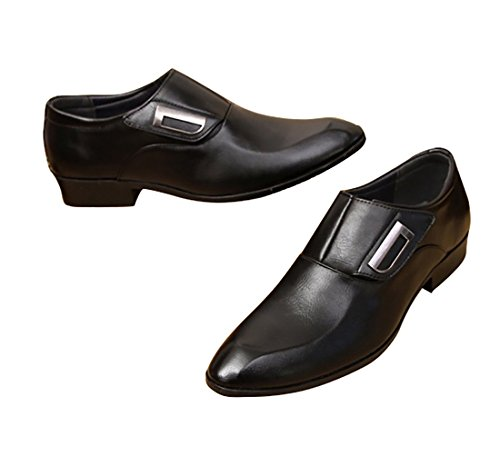 Men Fashion Derby Leisure 3 Fall for Formal Dress Collection Spring 2018 Wedding Black Patent Oxford Leather Shoes vnwxI1tpq
