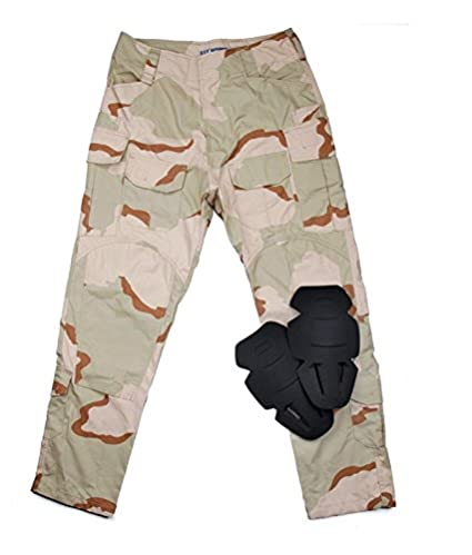 caf4cf6b24321 TMC DCU Tactical Military Combat 3G Field Pants with Pads airsoft paintball  (XXL)