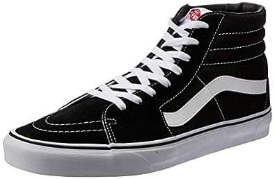 Vans SK8-Hi Sneakers, Unisex-Adult, Black/White, 6 US Men / 7.5 US Women