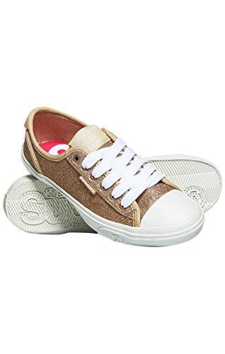 Jaune Mk1 Pro Glitter Superdry Low Gold antique Sneaker On Femme Slip w0Rw1qx5v