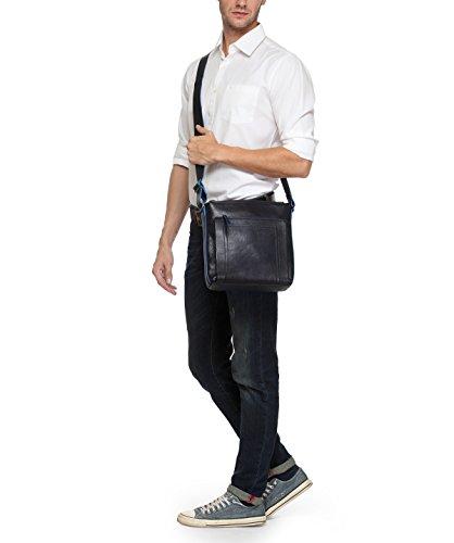 b77521f4c4 Phive Rivers Men s Leather Messenger Bag (Black