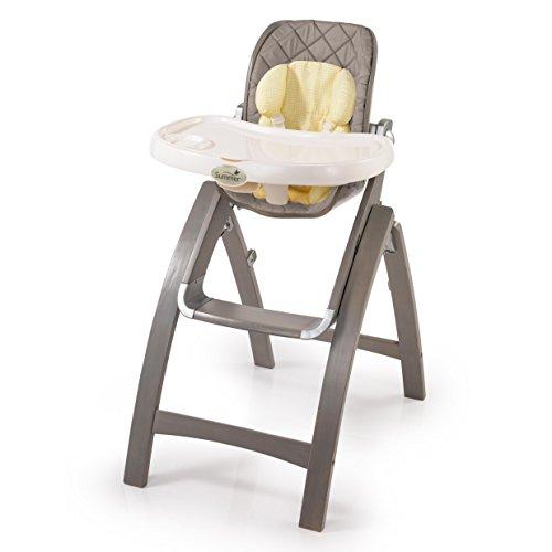 Summer Infant Bentwood High Chair, Grey/Grey