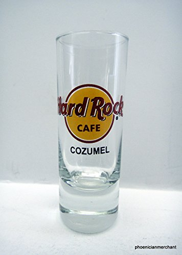 Cozumel Mexico Hard Rock Cafe Red Circle Logo Cordial Shot Glass Shooter