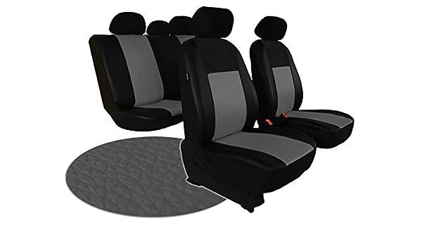 Universal Rojo//Negro De Cuero Eco-juego completo de fundas de asiento de Coche Apto Nissan X-Trail
