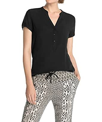 Esprit Edc by Basic Slipover 045cc1f023 - Camisa para Mujer, Black 001, Talla 38