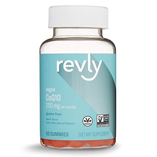 (Amazon Brand - Revly CoQ10, 200 mg per Serving (2 Gummies), 60 Gummies, Vegan,)