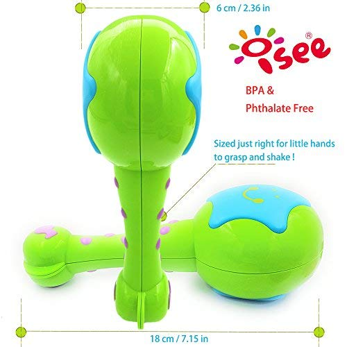 My First Musical Toys Rattles Shakers 1 Year Old Child Toddler Kids ISEE Baby Maracas Infant Learning Instruments Newborn 6 to 12 Months Girls Boys. Blue