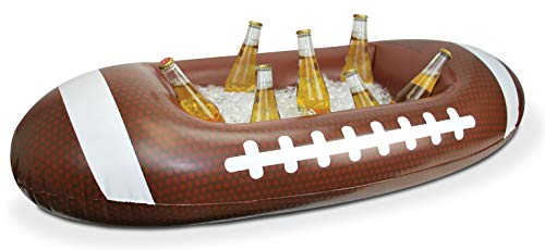 BigMouth Inc. Football Inflatable Cooler, 3.5 Foot Long Tailgating Cooler, Holds Drinks, Snacks, Ice and More, Easy to Inflate ()