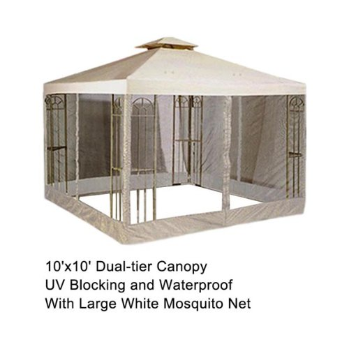 10x10 feet 121x121 inch square ivory poly vinyl garden for 10x10 square feet