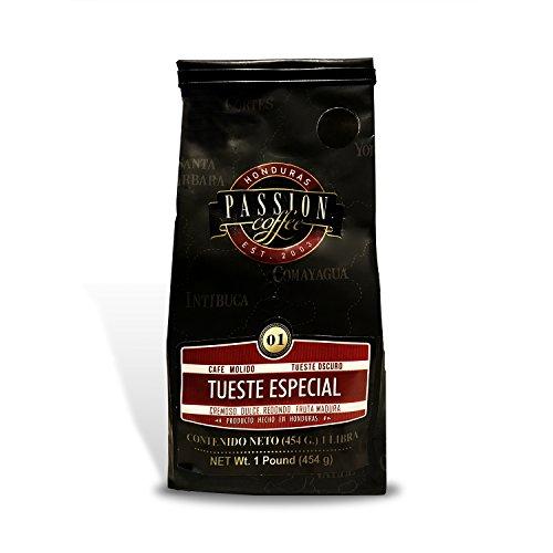 Cafe Passion Coffee Dark Roasted Honduran Ground Coffee , 16 Oz. - 100% Coffee from Honduras