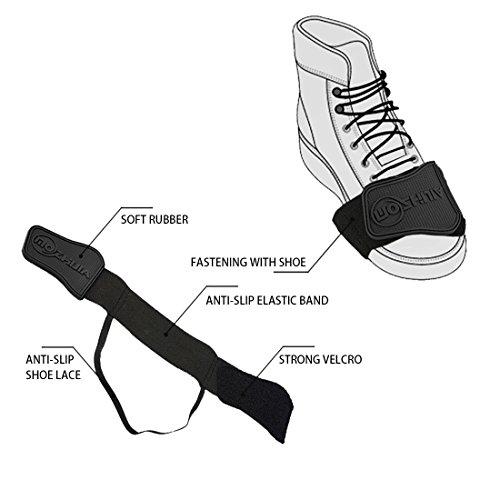a71bed9e1a8fb Xcellent Global Protector de zapato de Moto Cubre Botas Ayuda para el Cambio  Negro AT022  Amazon.es  Electrónica