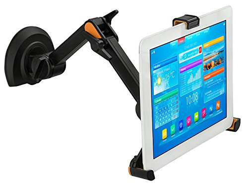 Mount-it! Universal Tablet Wall Mount For iPad | Tablet Wall Mount For Kitchen | Tablet Arm Stand For iPad, Galaxy, Fire Tablets Up To 10.4 Inches