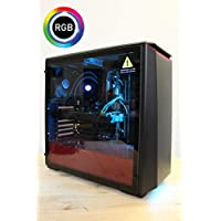 Centaurus Electra 3 Gaming Computer - AMD Ryzen 5 2600X Six-Core 4.0GHz O/C, 16GB 2667MHz RAM, Nvidia GTX 1070 Ti 8GB, 480GB SSD + 2TB HDD, Liquid Cooler, Windows 10 PRO, WiFi, RGB, Tempered Glass