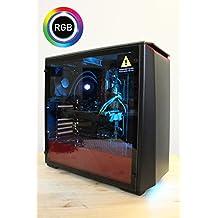 Centaurus Electra 3 Gaming Computer - AMD Ryzen 5 2600X Six-Core 4.0GHz O/C, 16GB 2667MHz RAM, Nvidia GTX 1070 Ti 8GB, 480GB SSD + 2TB HDD, Liquid Cooler, Windows 10 PRO, WiFi, RGB, Tempered Glass