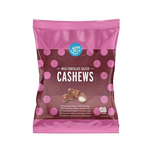 Amazon-Marke: Happy Belly Gesalzene Cashews in Milchschokolade 130g x 6