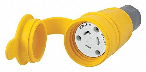 - 20A Watertight Locking Connector 2P 3W 250VAC