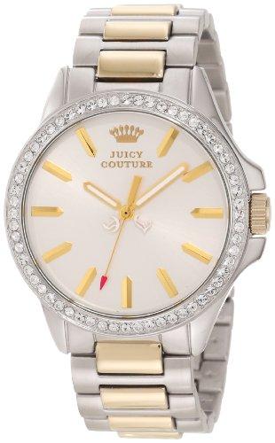 Juicy Couture Women's 1901023 Jetsetter Gold Two Tone Bracelet Watch (Prestige Bezel Bracelet)