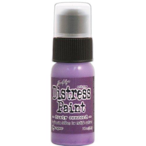 Ranger Tim Holtz Distress Paint, 1-Ounce Bottle, Dusty Concord ()