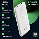 URBN 10000 mAh 18W Super Fast Charging Power Bank with 18W Type C PD (Input& Output) and QC 3.0 Dual USB Output with…