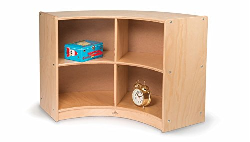Whitney Brothers Birch Laminate Curved Storage, Back Curve Out by Whitney Brothers