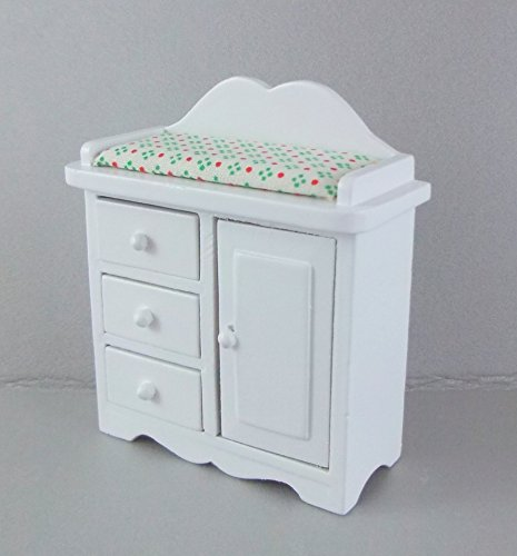 Melody Jane Dolls House Miniature 1:12 Scale Nursery Furniture White Baby Changing Table by Melody