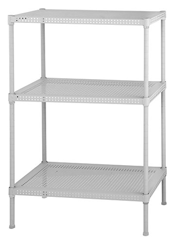 8-3W Steel Wire Shelving, 3 Adjustable Shelves, 110 lb Per Shelf Capacity, 28