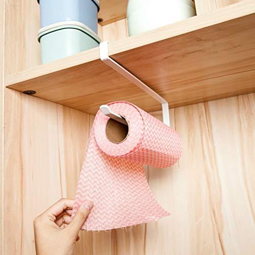 Go Cart Go 2019 New Iron Kitchen Tissue Holder Hanging Bathroom Toilet Roll Paper Holder Towel Rack Kitchen Cabinet Door Hook Holder by Go Cart Go (Image #3)