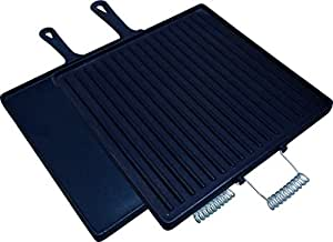 King Kooker CISQG14S 2-Sided Pre-Seasoned Cast Iron Griddle