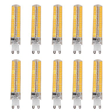 10pcs regulable G9 15 W 136 SMD 5730 1201400 lm cálido blanco/fresco blanco maíz bombillas AC 110 V/AC 220 V: Amazon.es: Iluminación