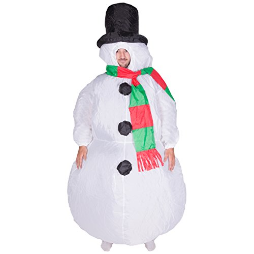 [Bodysocks - Inflatable Ride Me Adult Carry On Animal Fancy Dress Costume (Snowman)] (Mens Halloween Costumes Cheap)