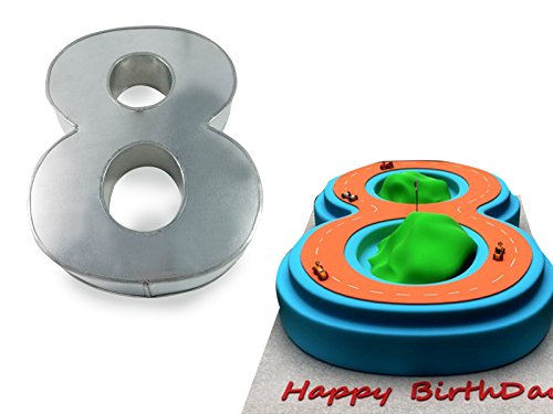 Euro Tins Numeric cake pan 35cm birthday cake tin number eight 8 large 14