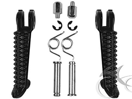 Tengchang Black Left/&right Foot Pegs Fit for Yamaha YZF R1 1998 1999 2000 2001 2002 2003 2004 2005 2006 2007 2008 2009 2010 2011 2012 2013 2014 YZF R6 1999-2012